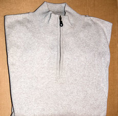 Pullover mit Zip, canvas/heather; Gr. XXL